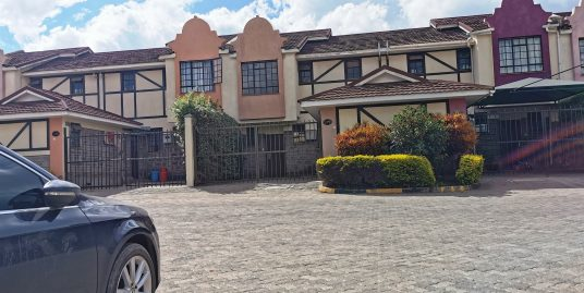 PRIME SEMI DETACHED THREE BEDROOM MAISONETTE WITH A STAFF QUARTERS